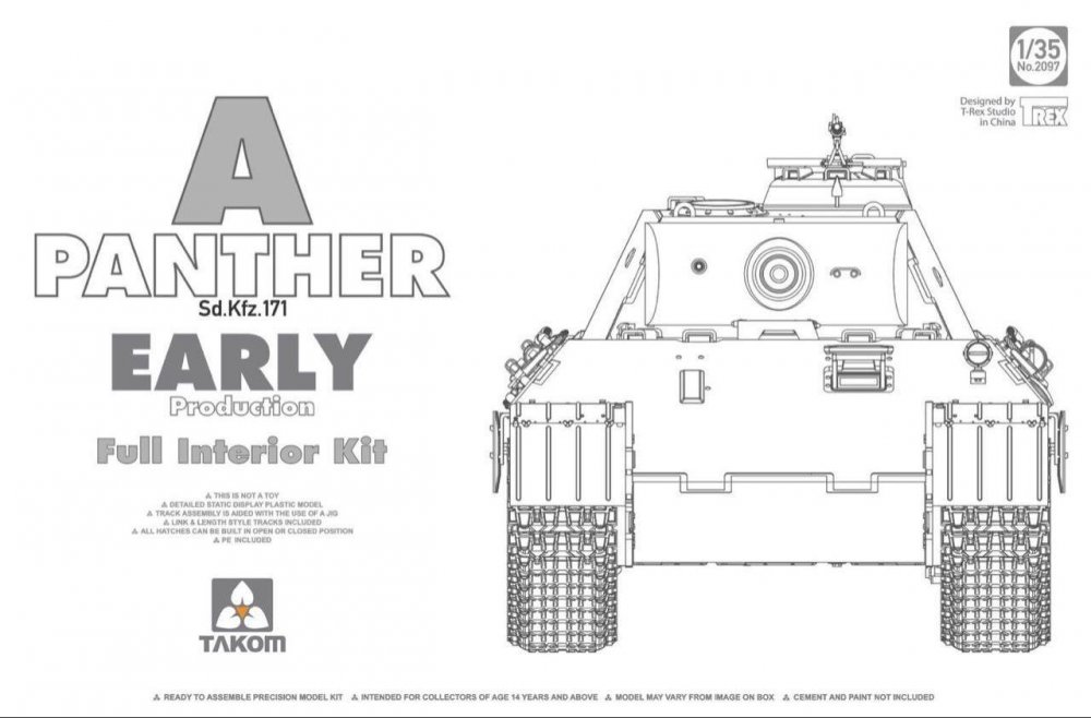 1/35 Panther Ausf  A Early Production, full interior
