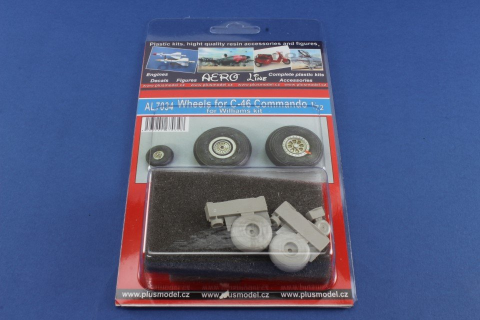 PLUS MODEL AL7034 Wheels for Williams Kit C-46 Commando in 1:72